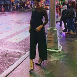 Zara black lace jumpsuit